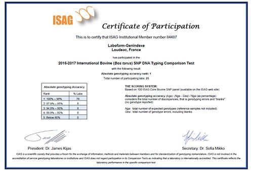 ISAG SNP 2017